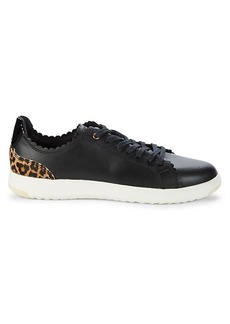 Cole Haan GP Leather & Cow Hair Tennis Sneakers