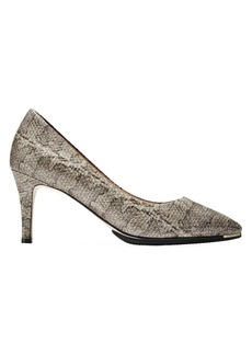 Cole Haan Grand Ambition Snake-Embossed Stiletto Pumps