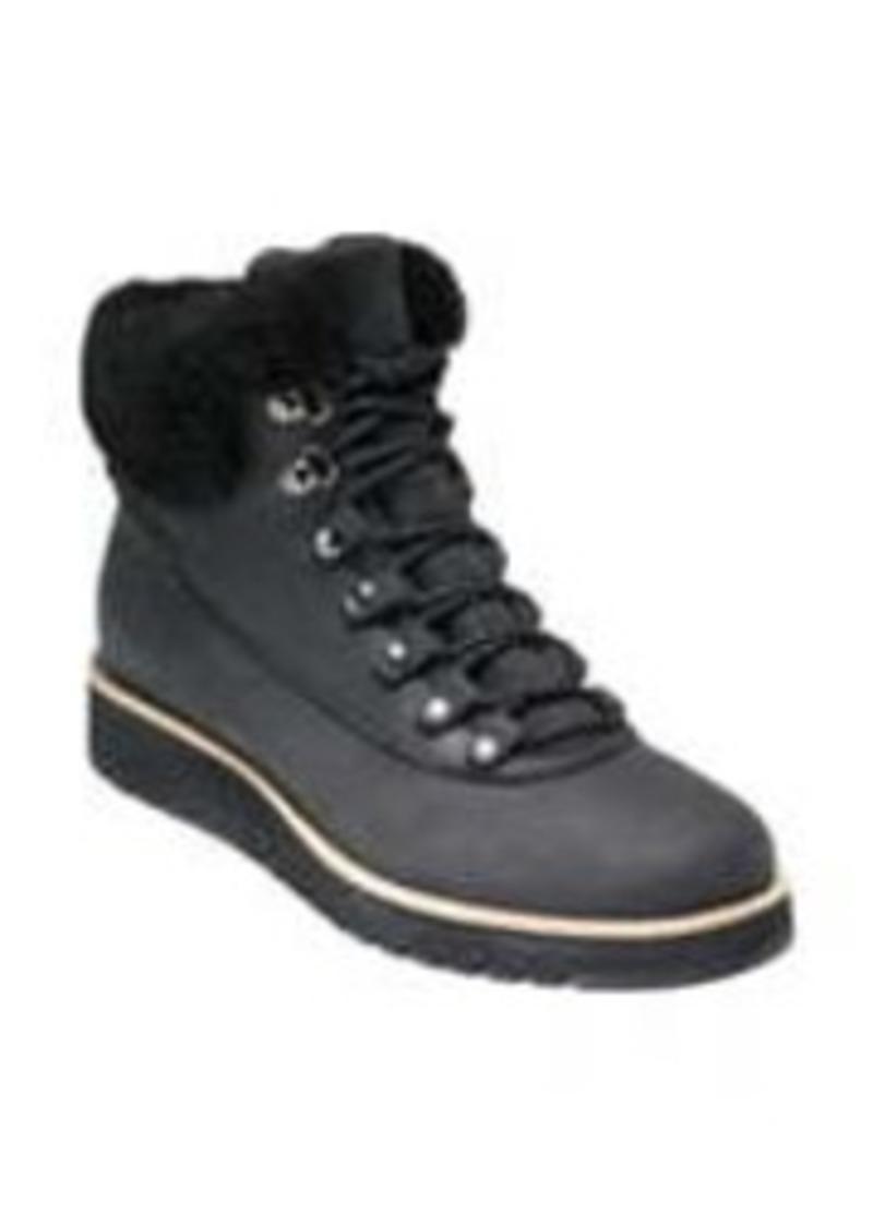 Women's Cole Haan Grandexpl?re Genuine Shearling Trim Waterproof Hiker Boot