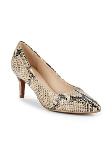 Cole Haan Harlow Snakeskin Embossed Pumps