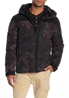 Cole Haan Hooded Quilted Puffer Down Jacket