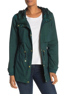 Cole Haan Hooded Rain Jacket