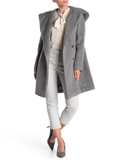 Cole Haan Hooded Wool Blend Coat