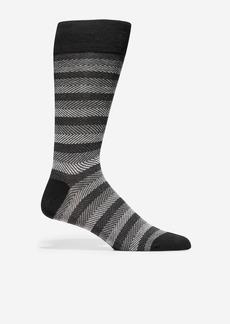 Cole Haan Horizontal Chevron Crew Socks