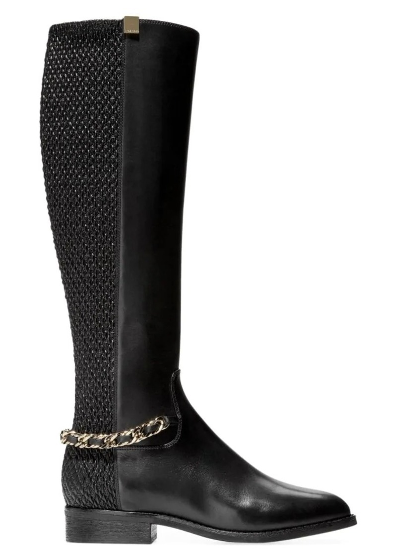 Cole Haan Idina Stretch Leather Riding Boots