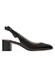 Cole Haan Lainey Bow Leather Slingback Pumps