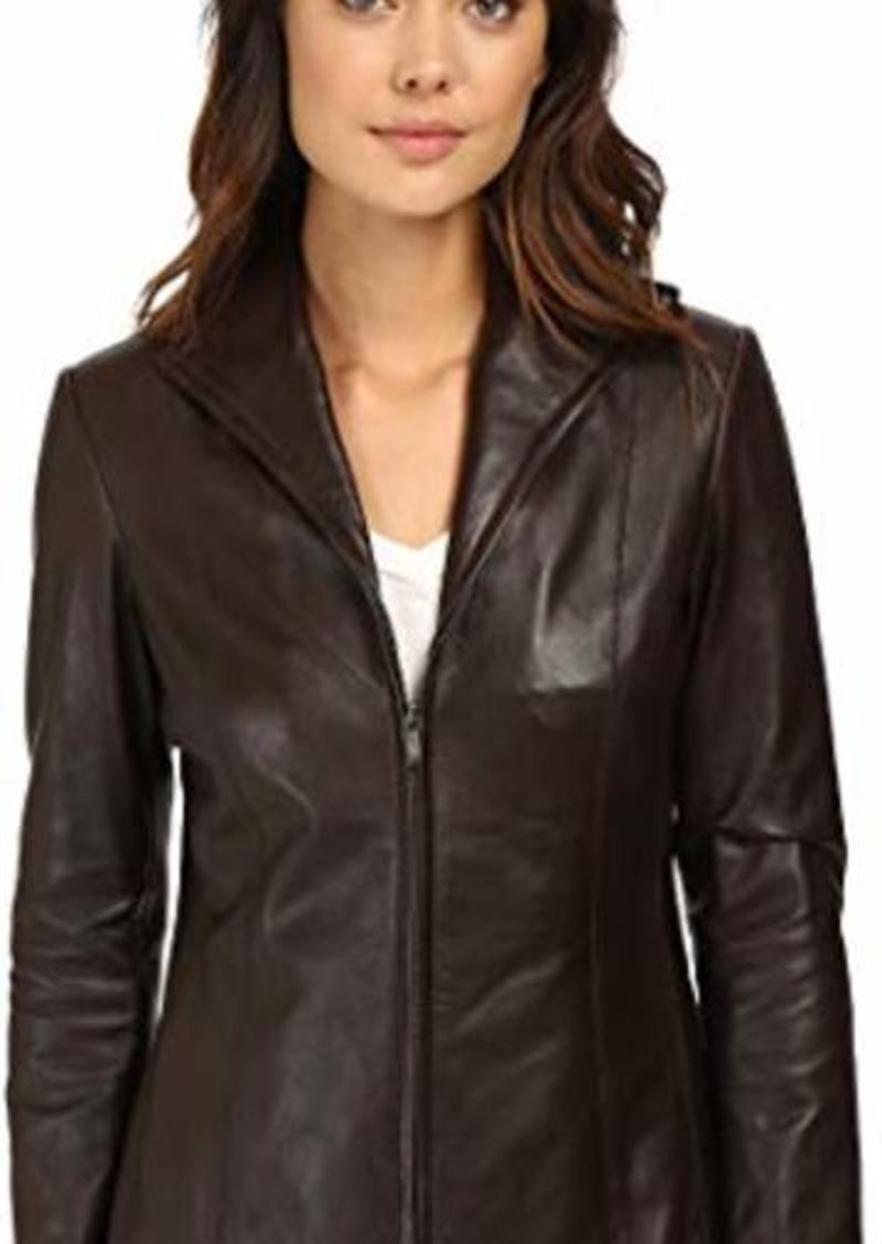 6b728e939 Lamb Leather Zip Front Jacket