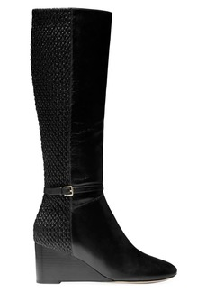 Cole Haan Lauralyn Leather Tall Wedge Boots