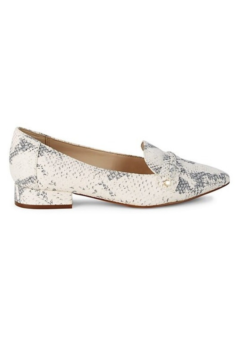 Cole Haan Mabel Snake-Print Leather Skimmers