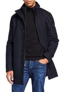 Cole Haan Men's Bib-Front Car Coat