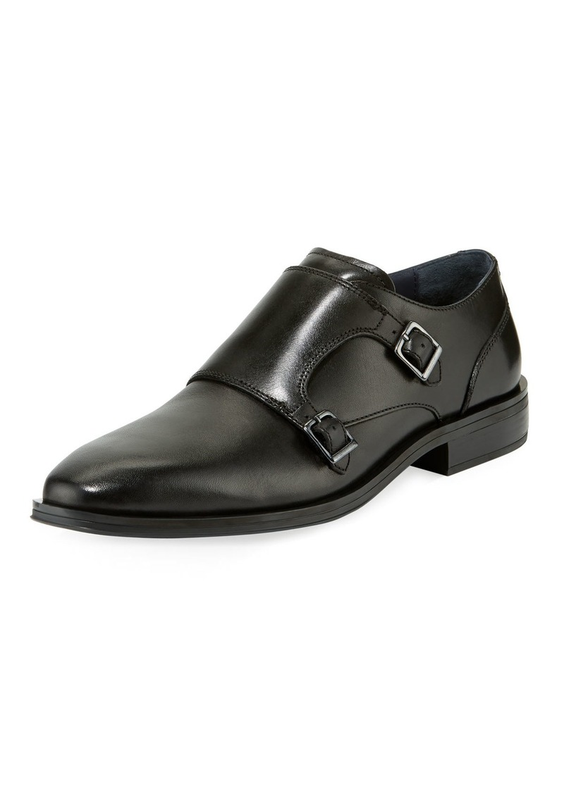 Cole Haan Men's Dawes Grand Double Monk Oxford Shoes  Black