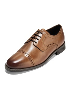 Cole Haan Men's Dustin Brogue Leather Oxfords  Tan