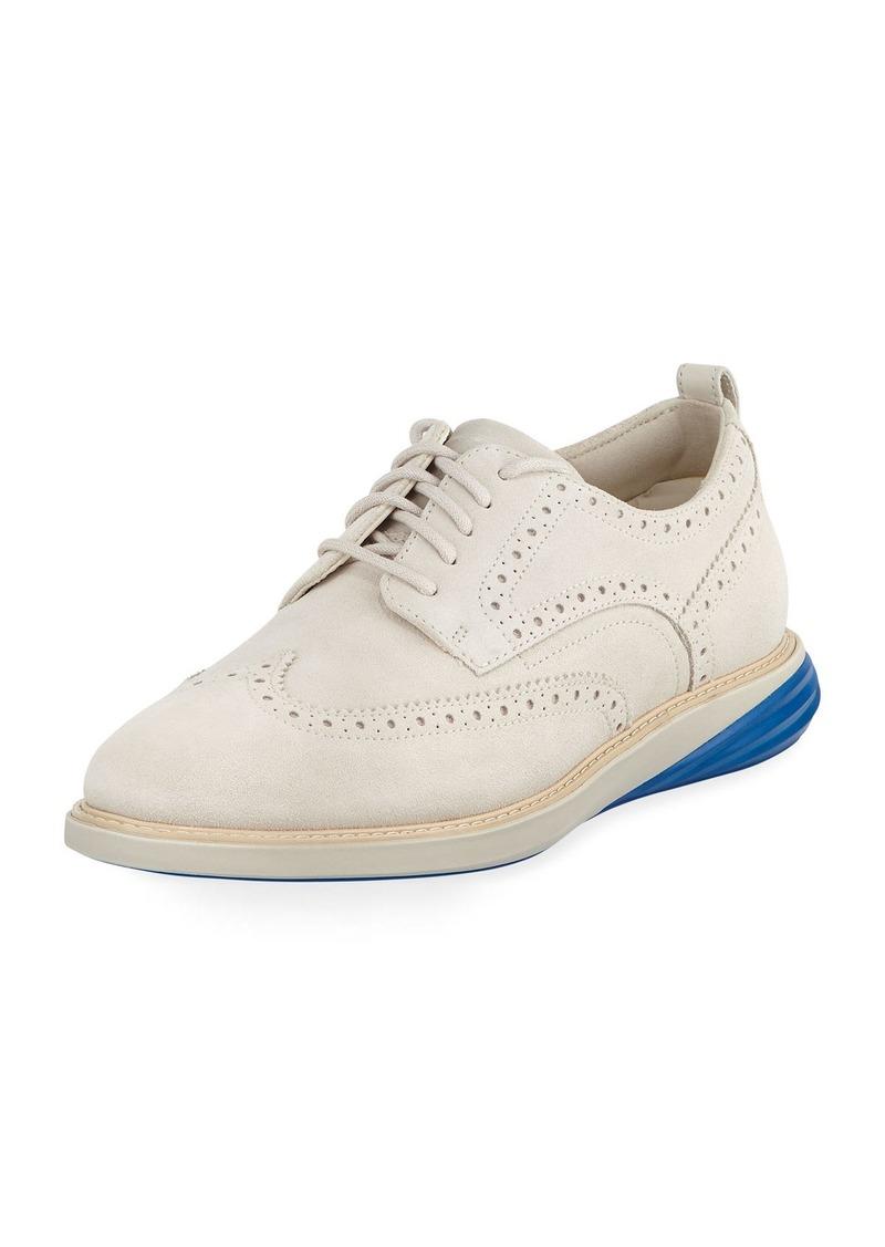 Cole Haan Men's Grand Evolution Suede Sneakers  Medium Beige