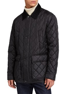 Cole Haan Men's Quilted Barn Jacket