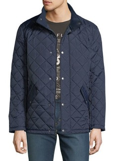 Cole Haan Men's Quilted Knit-Collar Barn Jacket
