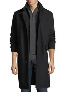 Cole Haan Men's Wool-Twill Bibbed Topper Jacket