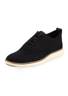 Cole Haan Men's ZeroGrand Knit Oxford Sneakers  Black