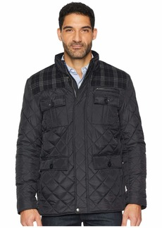 Cole Haan Mixed Media Multi-Pockets Quilted Jacket