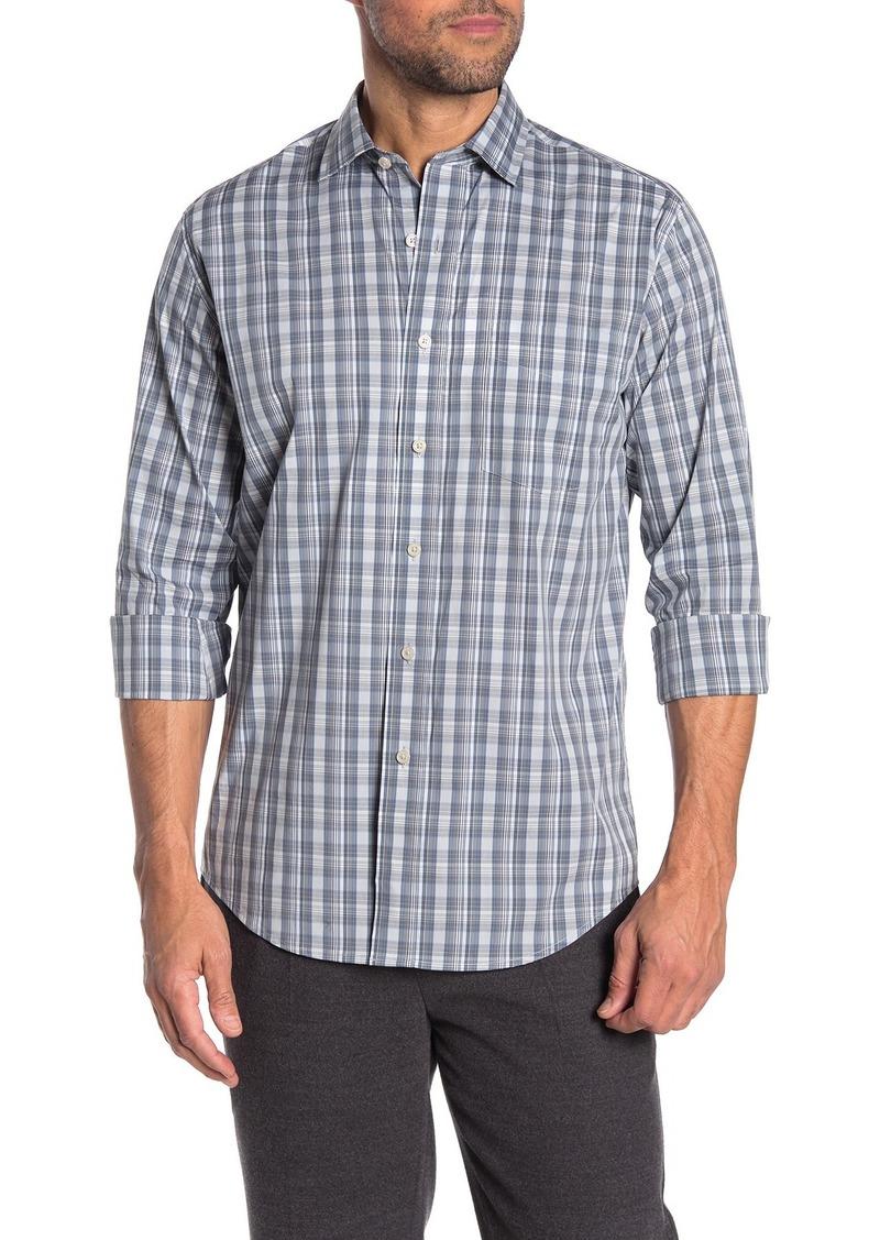 Cole Haan Slim Fit Multi-Color Long Sleeve Plaid Woven Shirt