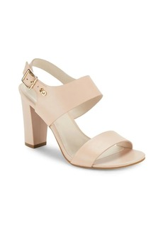 Cole Haan Octavia Block Heel Leather Sandals