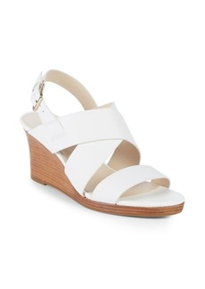 Cole Haan Penelope Leather Wedge Sandals