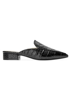 Cole Haan Piper Croc-Embossed Leather Mules