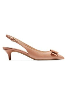 Cole Haan Tali Bow Slingback Leather Pumps