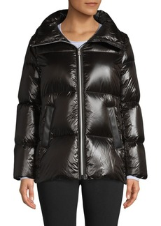 Cole Haan Quilted A-Line Down Coat