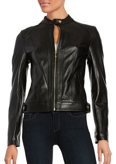 Cole Haan Quilted Italian Leather Jacket