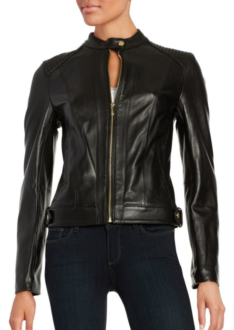Cole Haan Quilted Italian Leather Jacket Outerwear