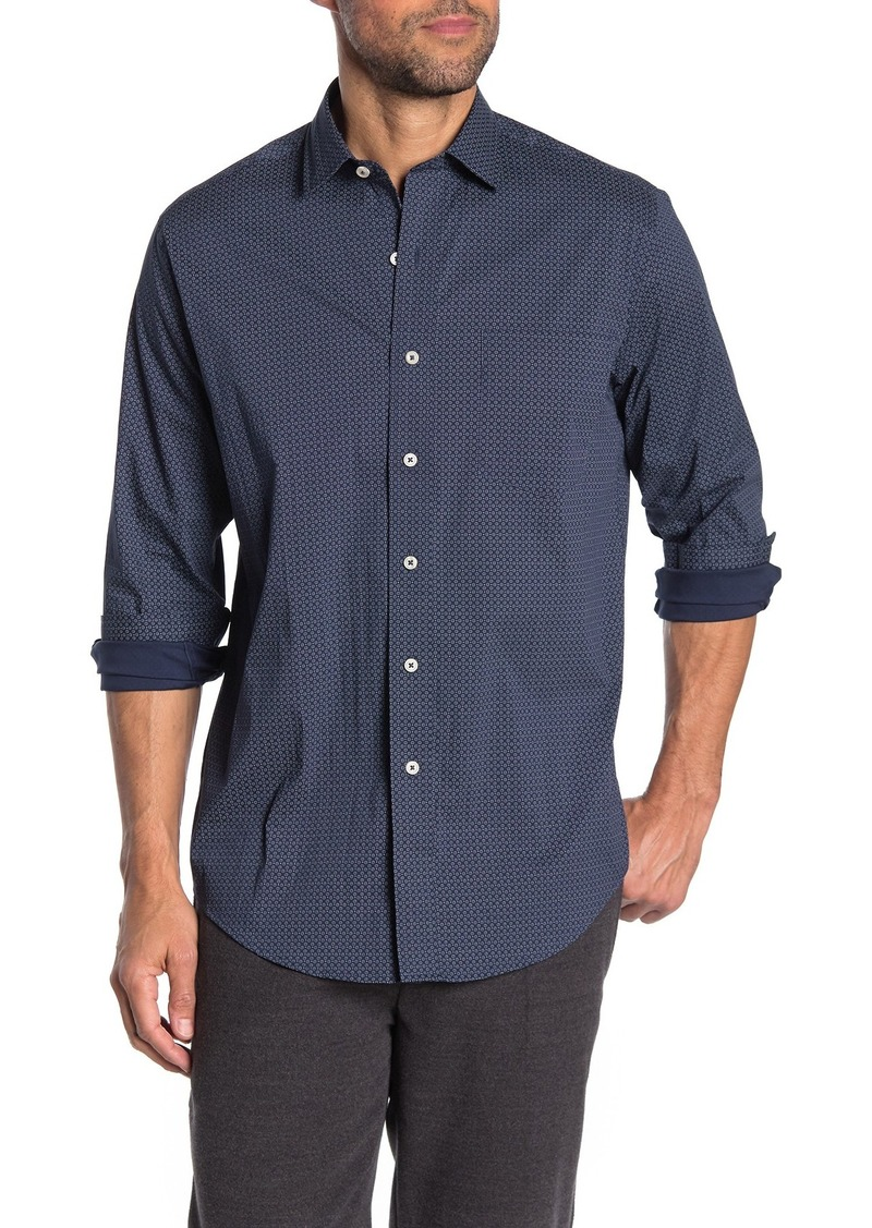 Cole Haan Slim Fit Long Sleeve Woven Printed Shirt