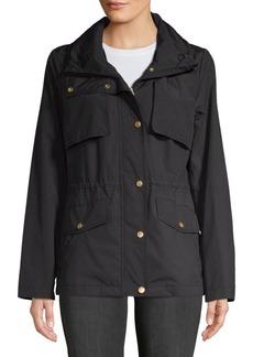 Cole Haan Snap Front Zip Collar Jacket