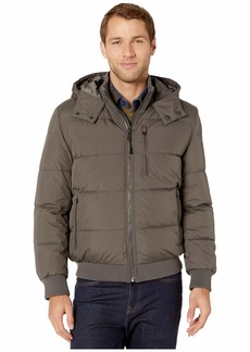 Cole Haan Soft Touch Hooded Down Bomber Jacket