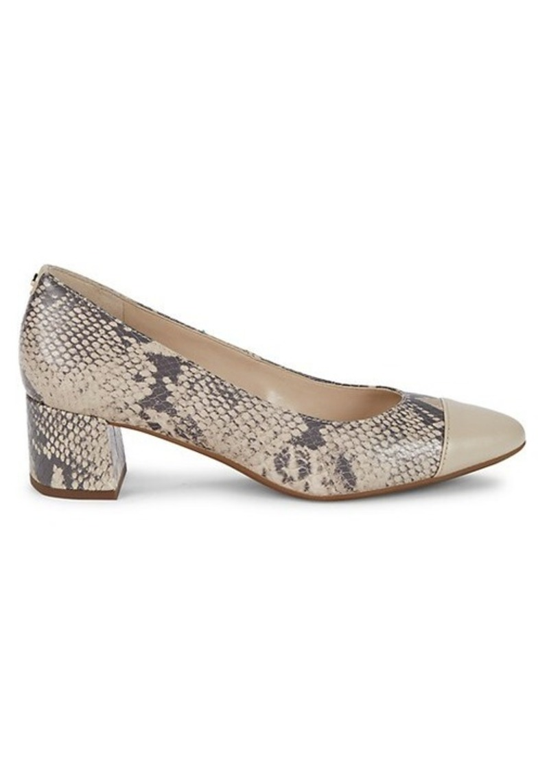 Cole Haan The Go-To Embossed Leather Pumps