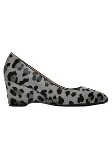 Cole Haan The Go-To Leopard-Print Calf Hair & Leather Wedge Pumps