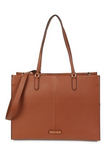 Cole Haan Three-In-One Pebbled Leather Tote Bag