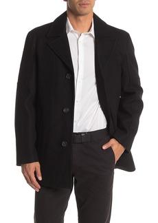 Cole Haan Water Repellent Wool Blend Coat