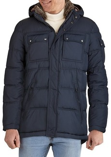 Cole Haan Water-Resistant Double Stitch Faux Fur Puffer Jacket