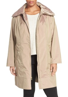 Cole Haan Water-Resistant Packable Hooded Anorak (Plus Size)