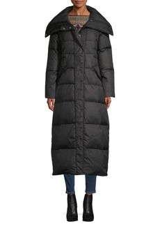 Cole Haan Wide Collar Down-Filled Puffer Coat