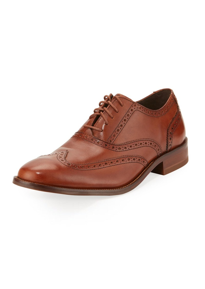 Cole Haan Williams Leather Wing-Tip Oxford  Brown