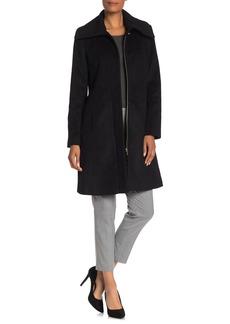 Cole Haan Wool Blend Long Line Shawl Collar Coat