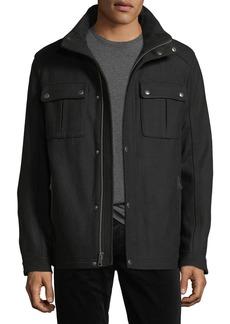 Cole Haan Wool-Blend Melton Coat
