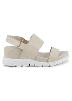 Cole Haan ZeroGrand Leather Wedge Sport Sandals
