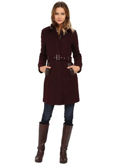 Cole Haan Zip Front Stand Collar Coat
