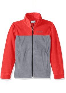 Columbia Big Boy's Steens Mountain II Fleece Jacket Bright red Grey ash L