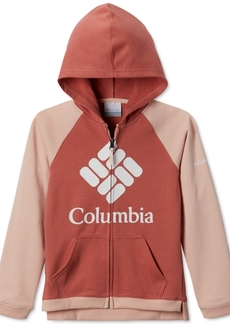 Columbia Big Girls Colorblocked Upf 50+ Logo Hoodie