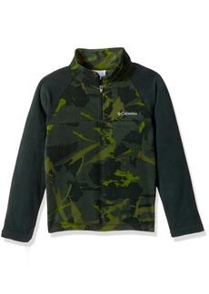 Columbia Boys' Little Glacial Ii Printed Fleece Half Zip Jacket