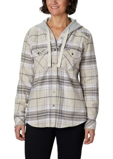 Columbia Canyon Point Ii Cotton Flannel Plaid Hooded Shirt