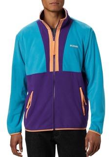 Columbia Color-Blocked UPF 50 Regular Fit Back Bowl Fleece Jacket